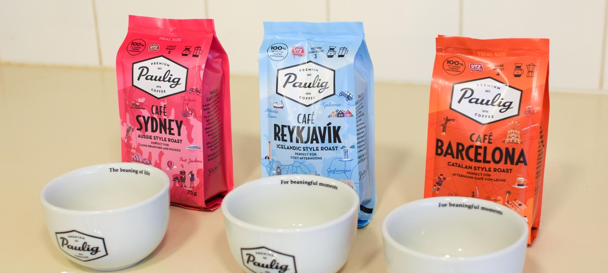 Cupping eli kahvimaistelu kaupunkikahvien maistelupakkauksella