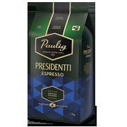 Presidentti Espresso 1kg  kavos pupelės